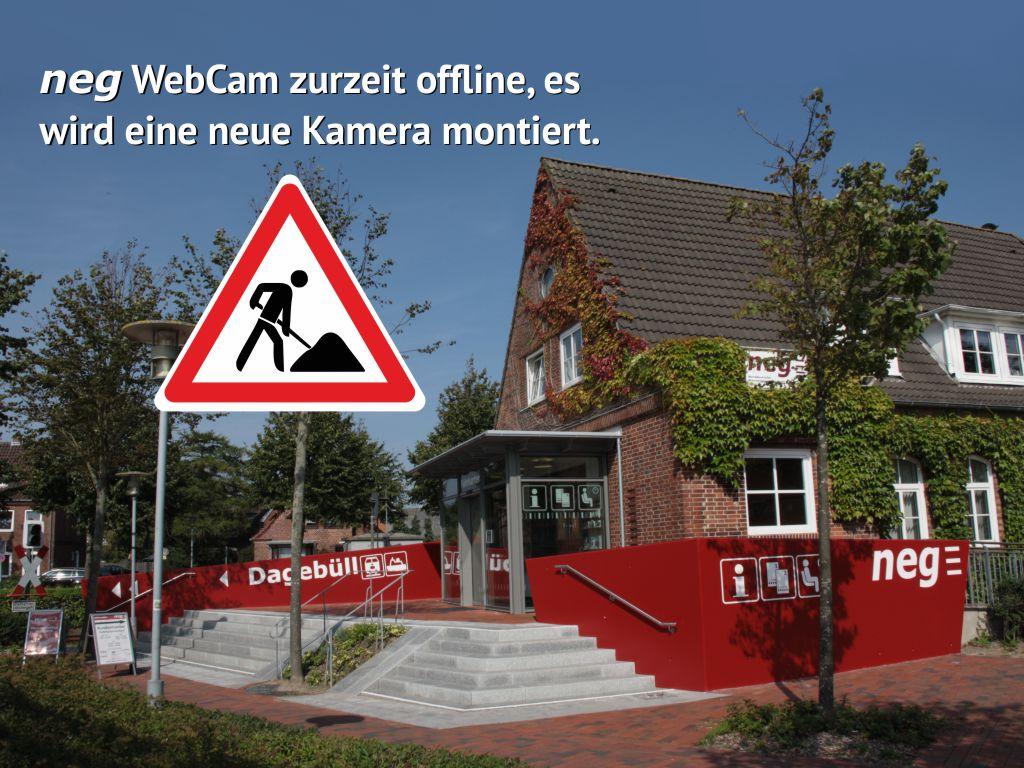 neg Kamera am neg Bahnhof in Niebüll